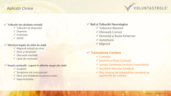 Aplicații clinice Voluntastrols 2